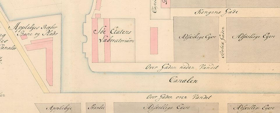 Kort over Christianshavn, 1754