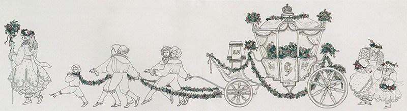 Skitse med kotillonvognen 1980