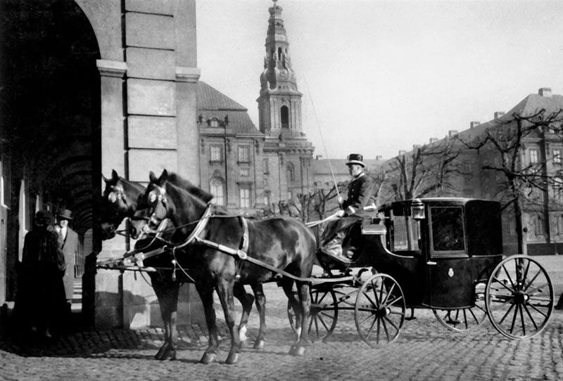 Coupé med tospand på Christiansborg Ridebane