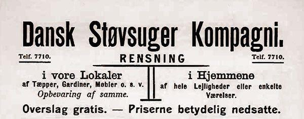 Avisannonce fra Dansk Støvsuger Kompagni