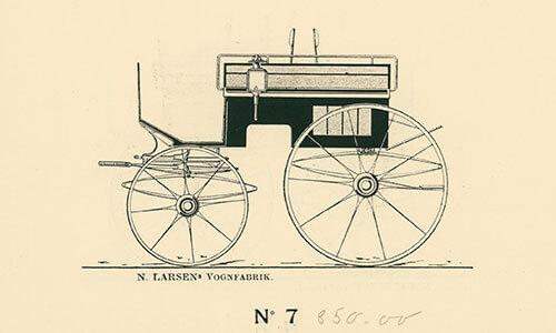 Firhjulet dogcart
