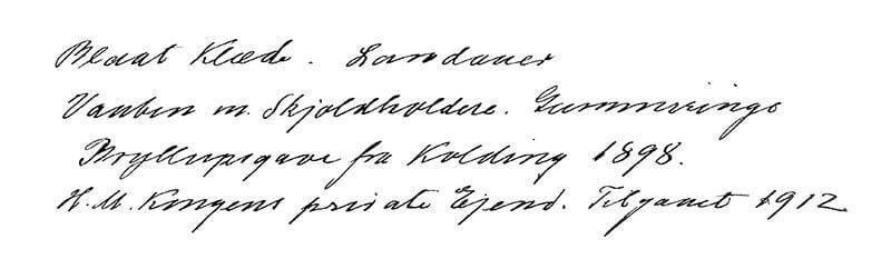 Bryllupslandaueren i inventarieregnskab 1947