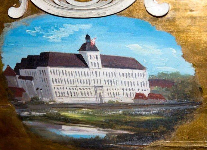 Maleri af Gottorp Slot på kotillonvognen