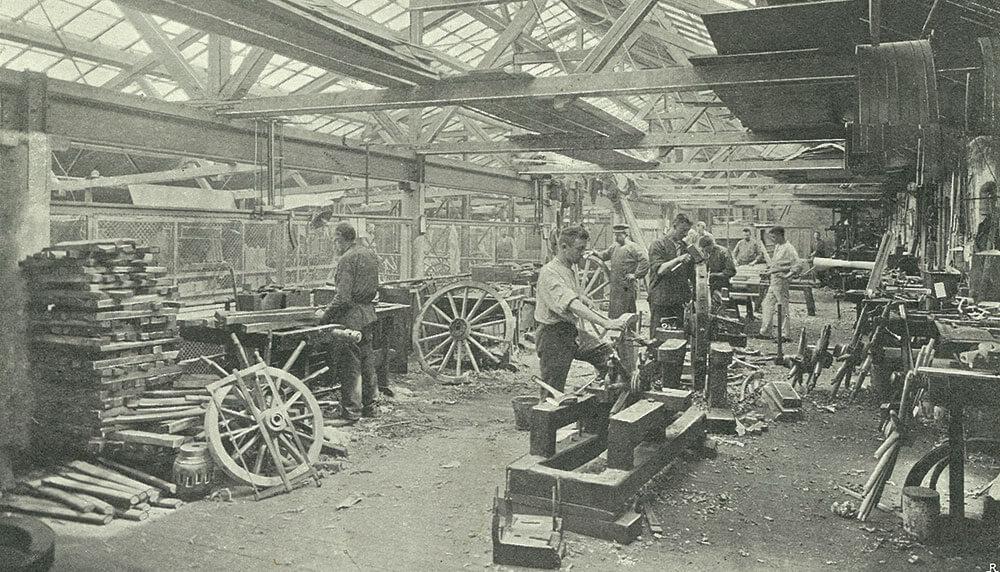Larsens vognfabrik hjulværksted
