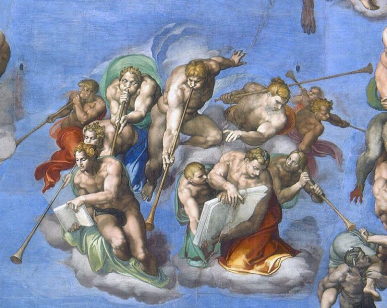 coachhorn på kalkmaleri