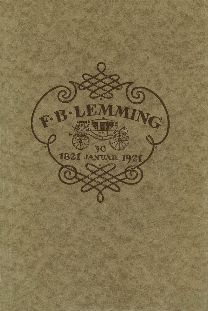 Katalog fra Vognfabrikant F. B. Lemming
