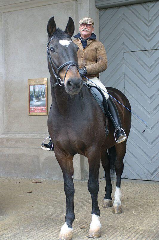 Michael Mentz på sin hest Kavaler. Foto: Ole Jespersen.