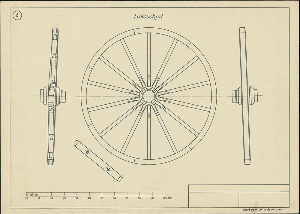 Forlægstegning til vognhjul 1941