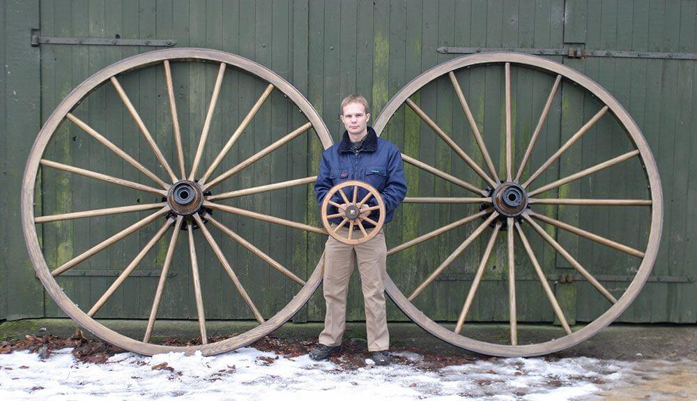 Store og små træhjul
