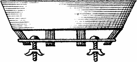 Bukdækkenets ramme fastgøres ofte med bolte