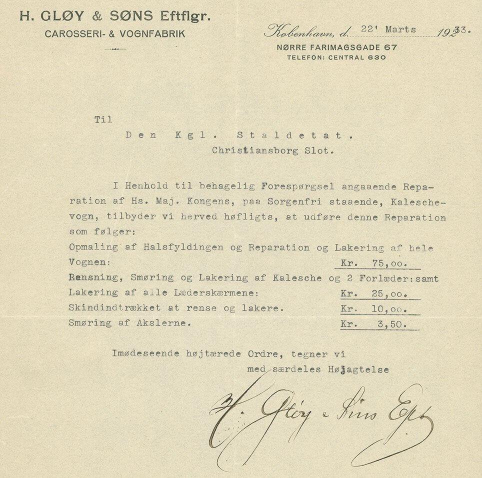 Gløy brev 1933