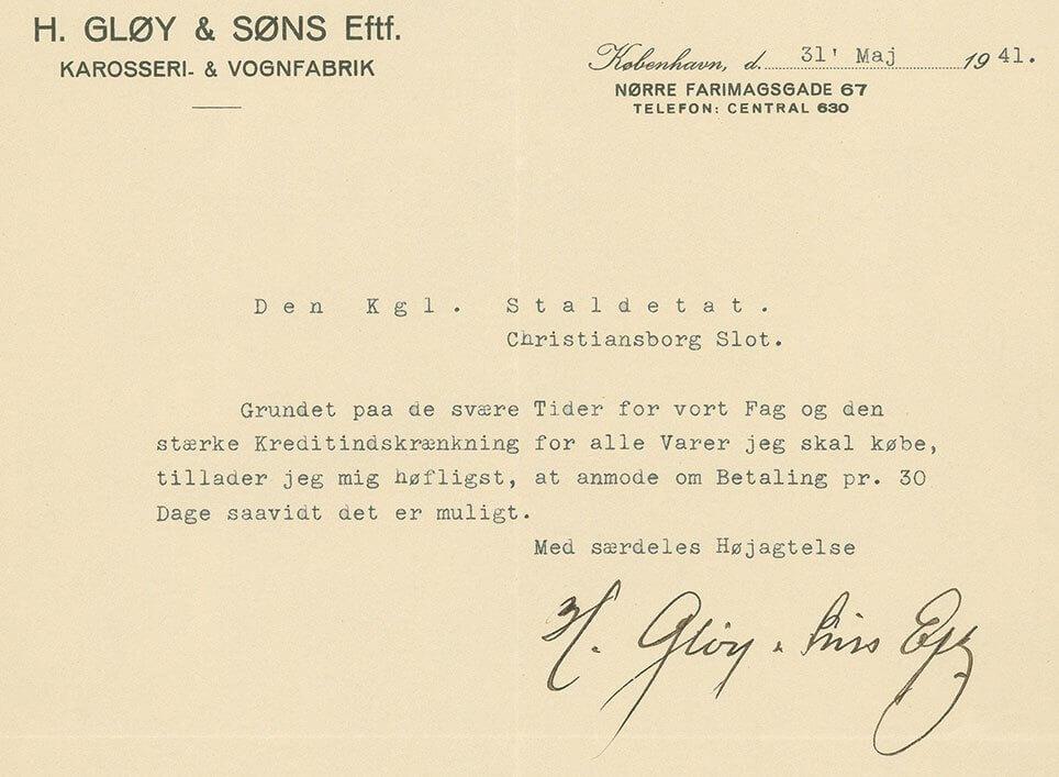 Gløy brev 1941