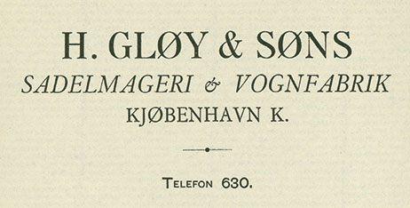 Gløy brevhoved 1901