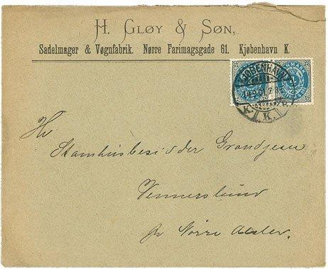 Kuvert fra Gløy
