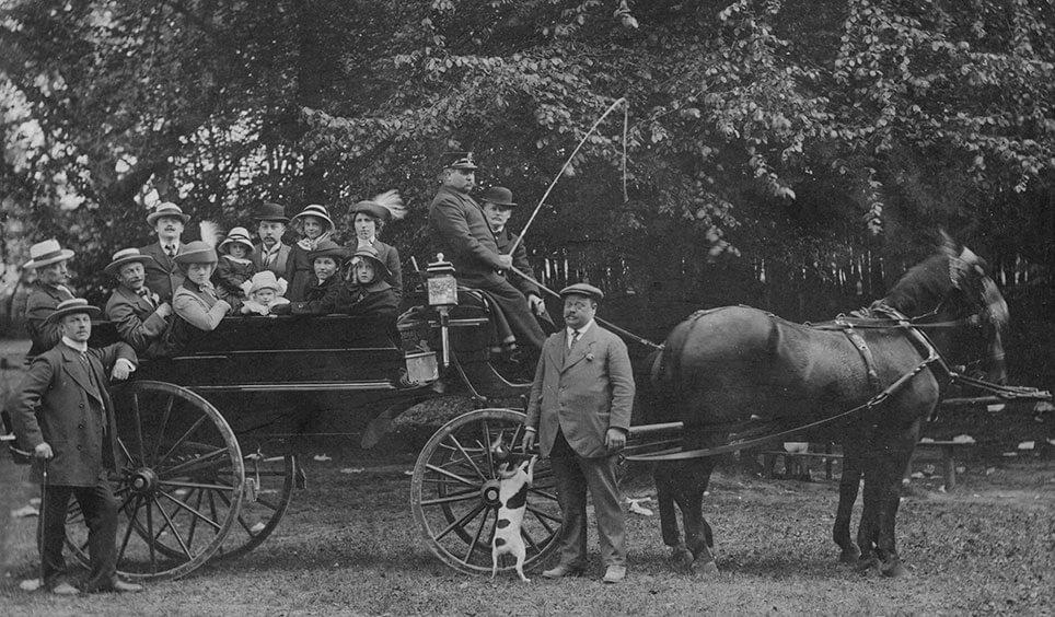 Familien Gløy på skovtur 1912