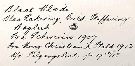 Inventarieregnskab 1909-1914