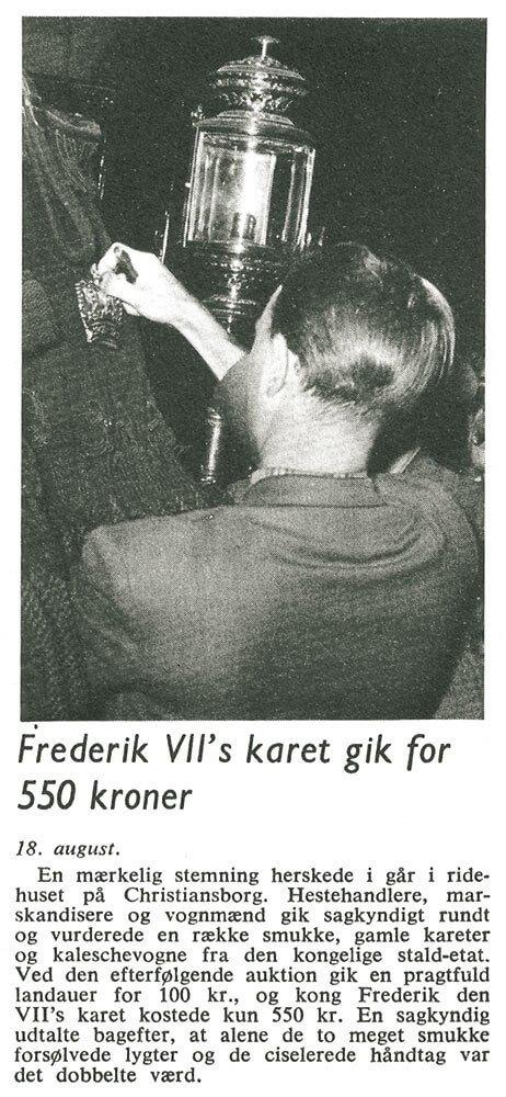 Frederik 7.s karet solgt i 1948