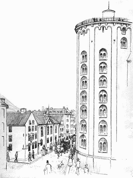 Stærk trafik ved Rundetårn