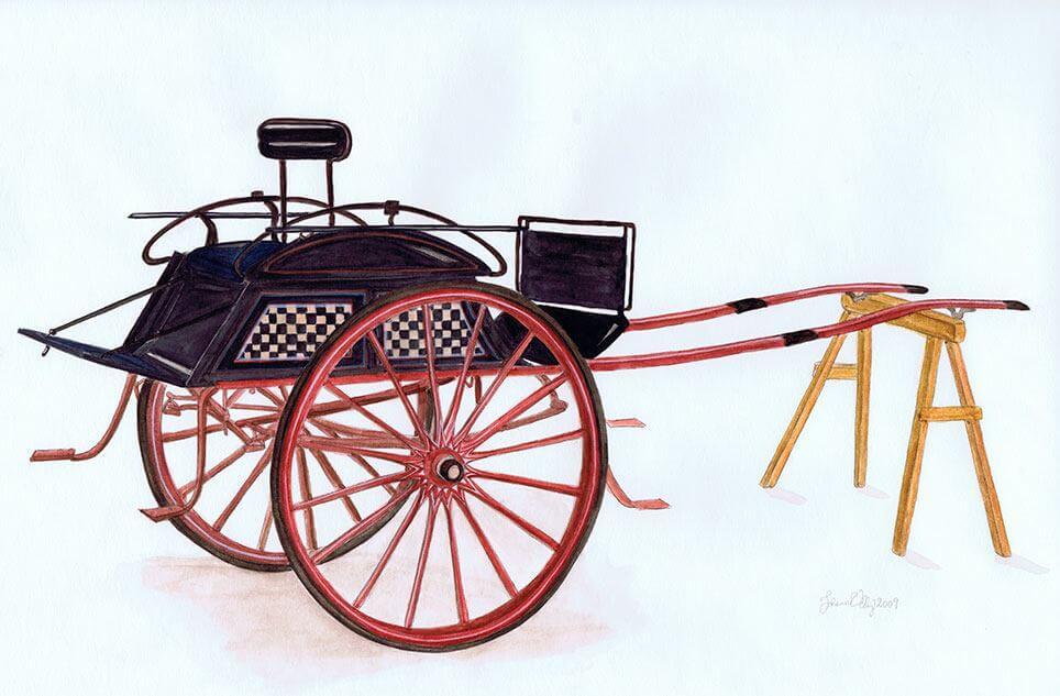 Tohjulet dogcart bygget af F.C. Schulz