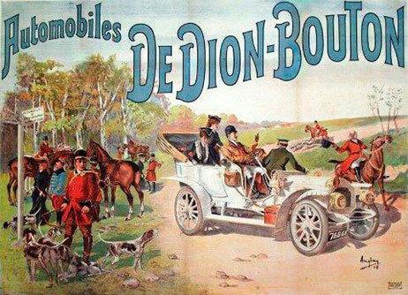 En Dion-Bouton bil var med i forsøget med bremselængde