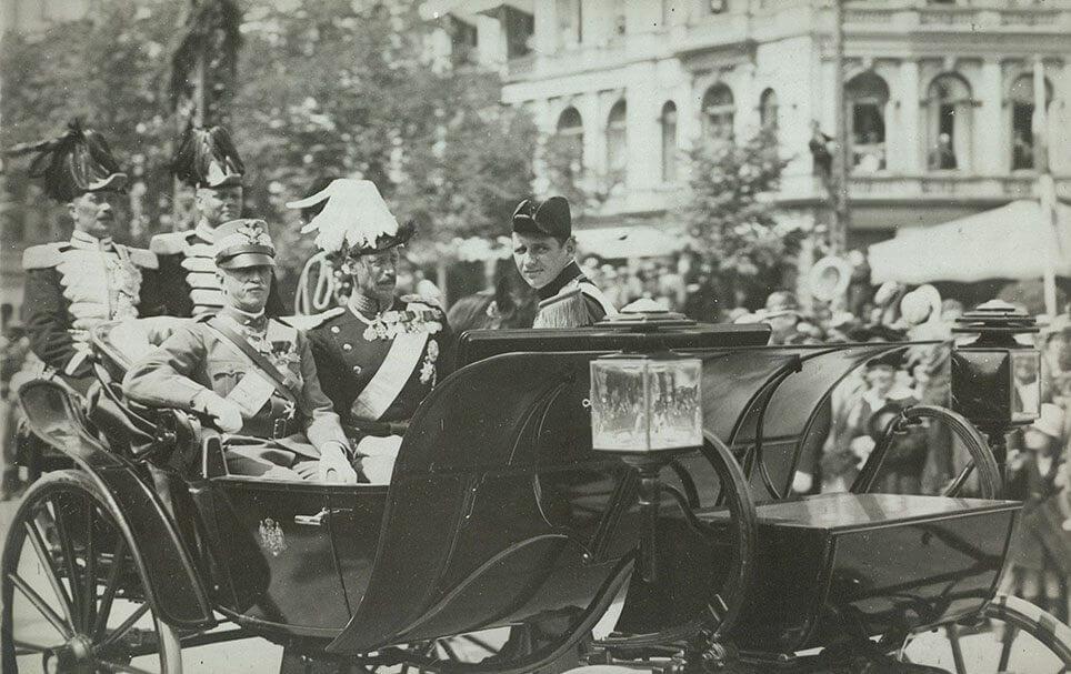 Den italienske konge i daumontvognen fra Neuss, 1922