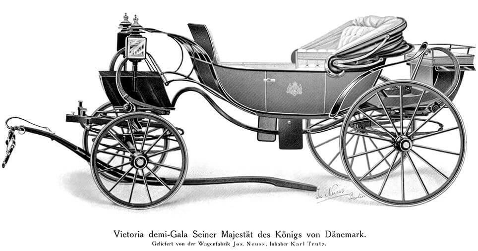 Tegning af Daumontvognen fra Neuss
