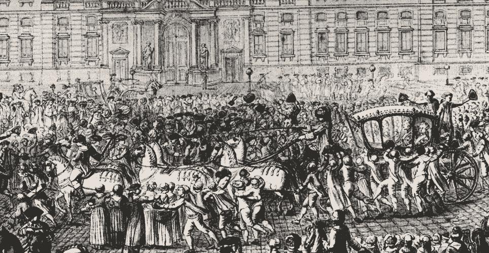 Kongelige i karet med seksspand, 1772