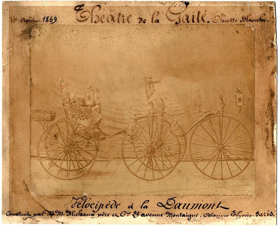 Velocipede à la Daumont, 1869. Lorne Shields.