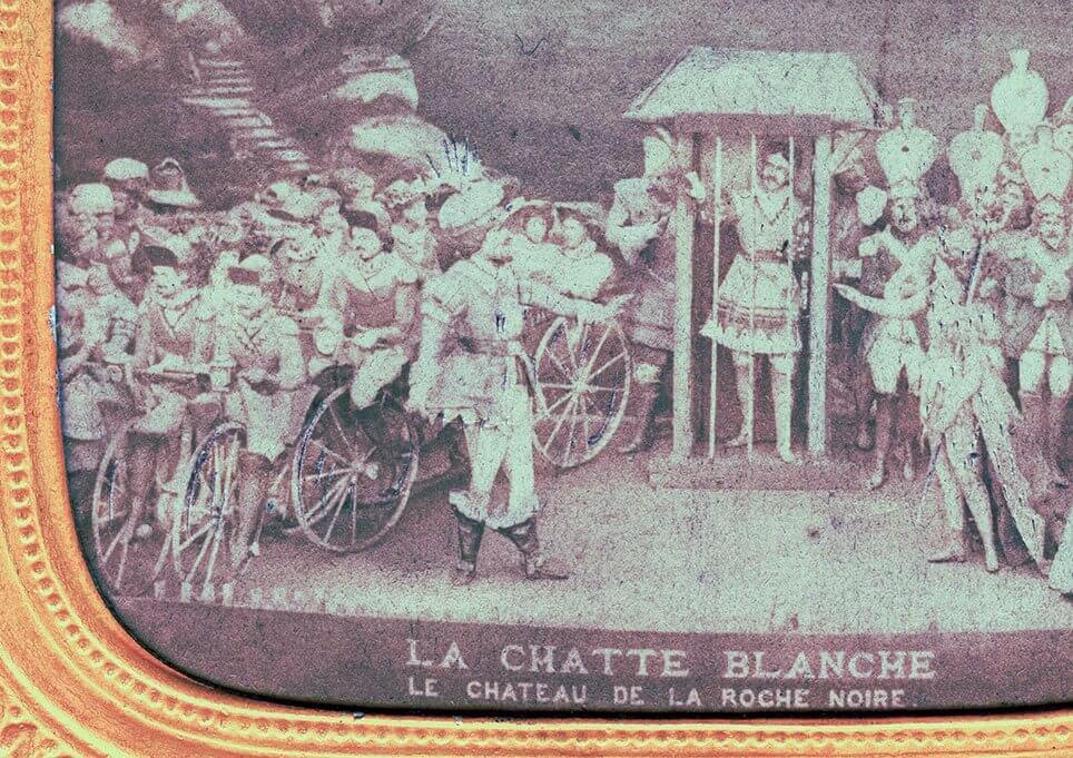 Stereoskopfoto af velocipede à la Daumont