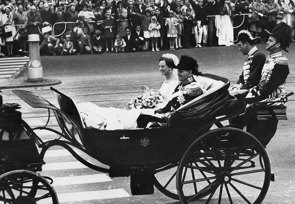 Prinsesse Margrethe og kong Frederik 9 i 1967