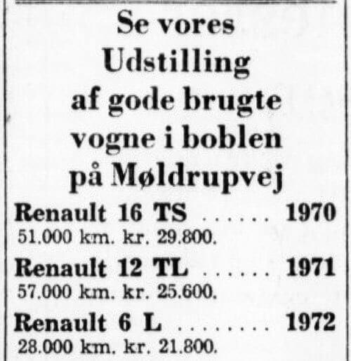 Annonce fra Anton Ovesen 1973.