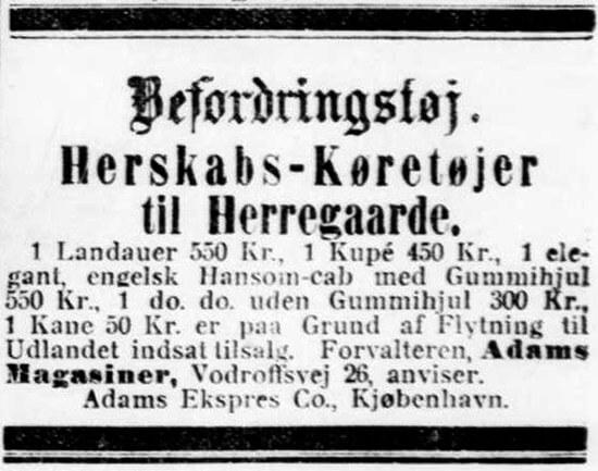 Hansom Cab til salg 1910