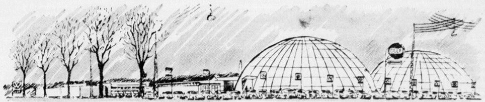To boblehaller blev i 1963 opført ved Auto-Centralen i Aalborg.