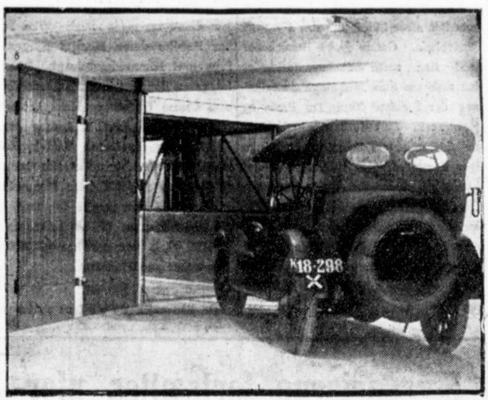 Det nye garageanlæg i Smallegade 52 var i tre etager og havde havde vognelevator.