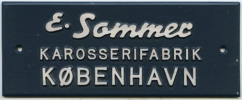 Fabriksmærke for E. Sommer Karosserifabrik København.