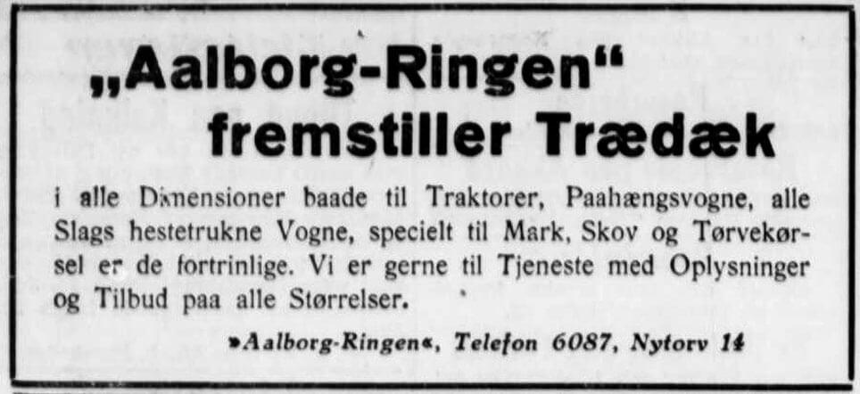 Aalborg Ringen fremstiller trædæk