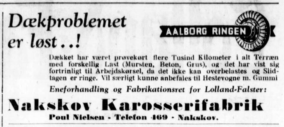 Eneforhandling af Aalborg Ringen for Lolland-Falster hos Nakskov Karosserifabrik.