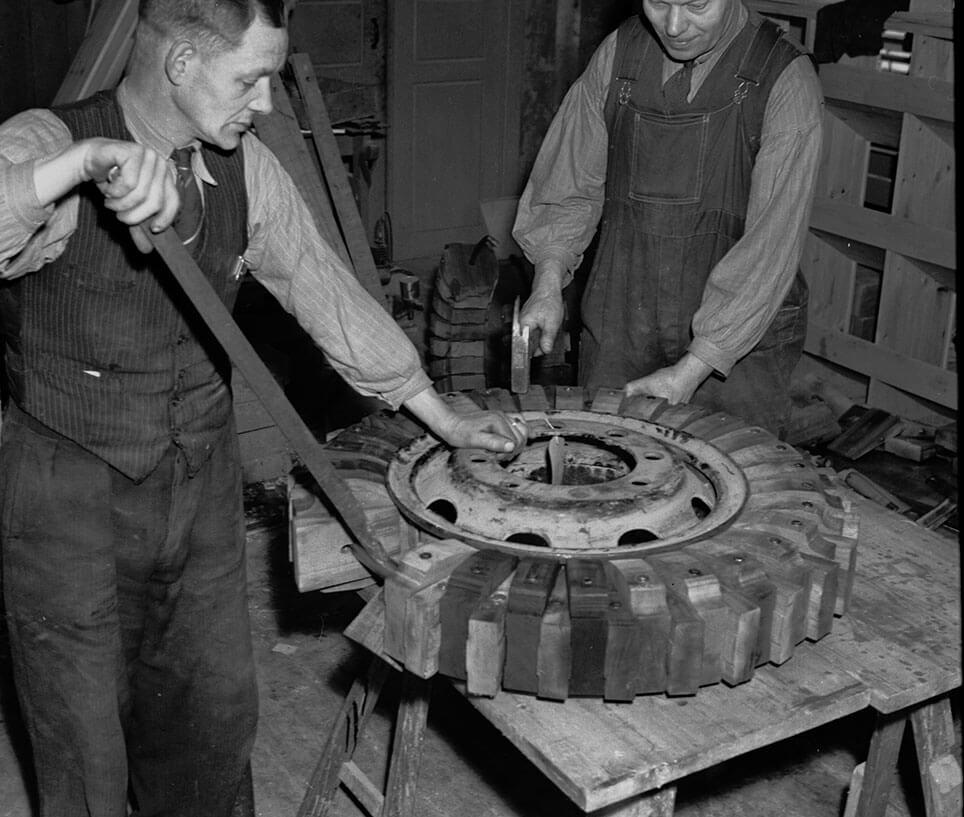 Samling af et Aalborg Ringen trædæk