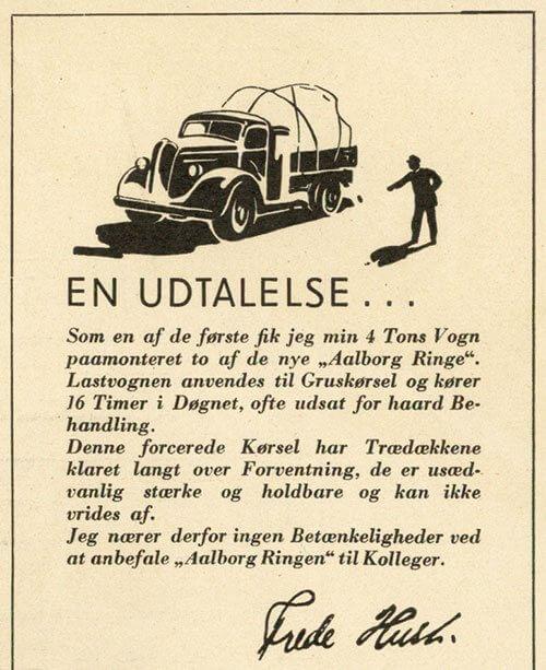 Udtalelse fra vognmand Frede Hust om Aalborg Ringens trædæk.