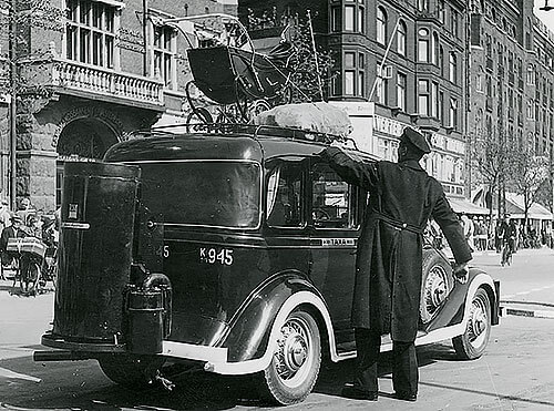 Taxa med generator i København.