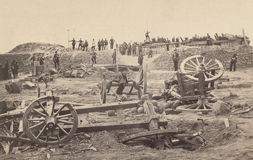 Efter prøjsiske troppers storm på Dybbøl skanse 4, 1864