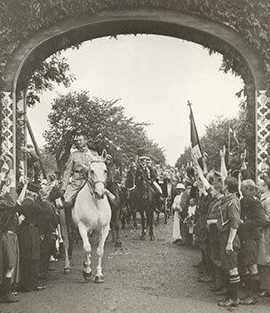 Kongen rider ind i Sønderjylland 1920