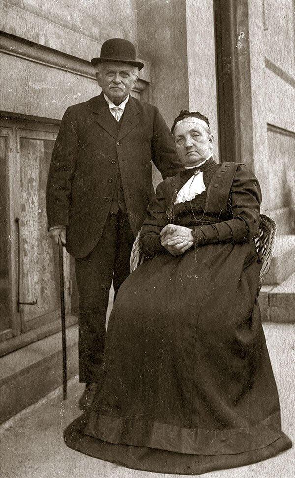 Vognfabrikant Peter Petersen og fru Vilhelmine, Slagelse