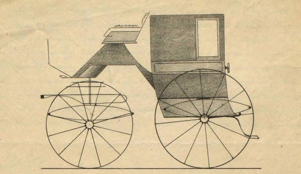 Vognfabrikant Peter Petersens doktorvogn 1888