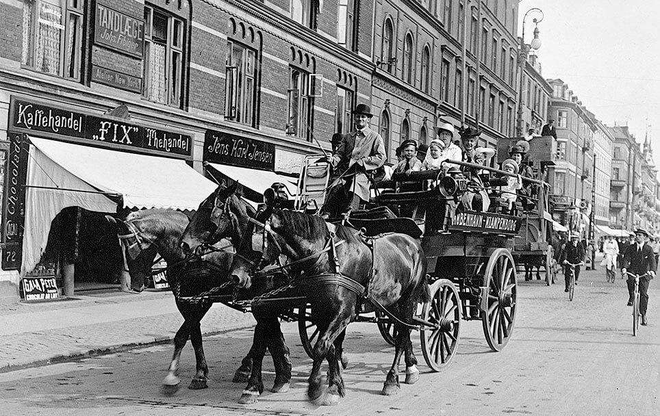 Turistkørsel med hestevogn København-Klampenborg